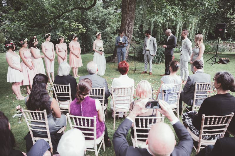 outdoor wedding ceremony oxfordshire