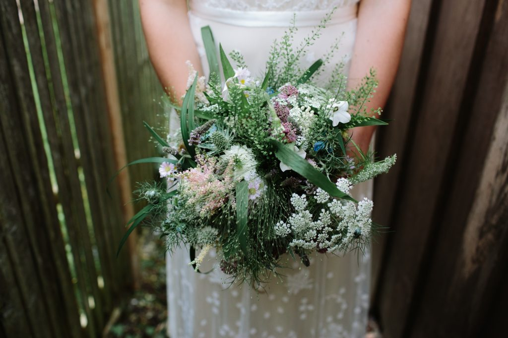Bridal Bouquet by Foxgloves & Roses