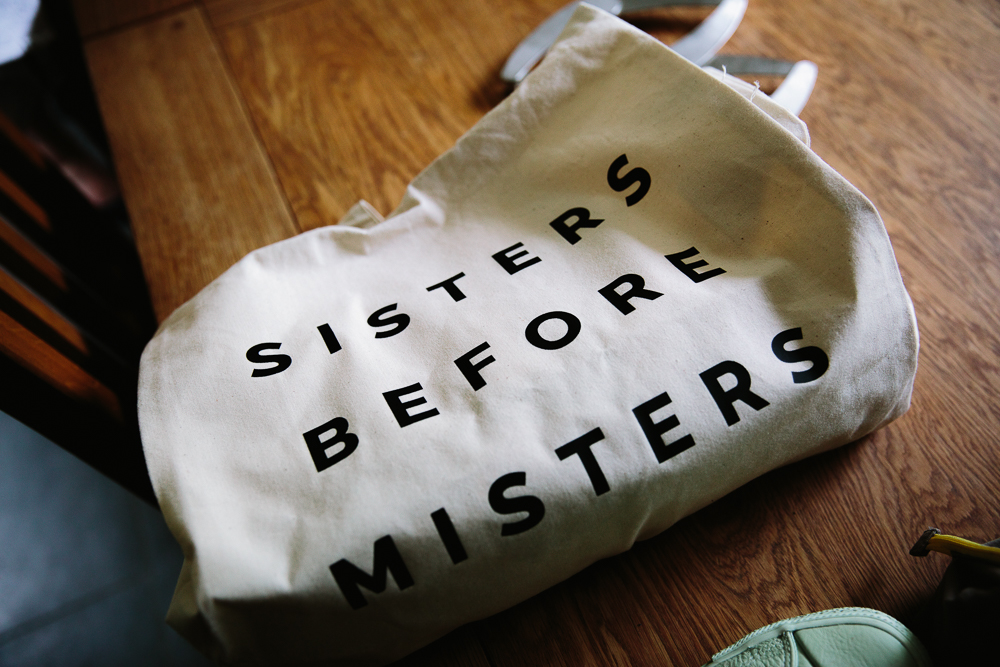 Sisters Before Misters wedding bag
