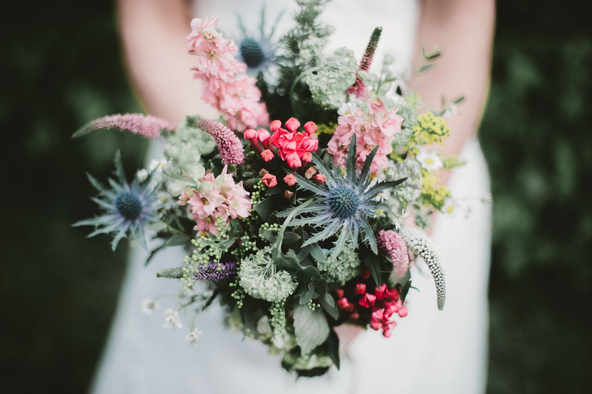 stunning flower bouquet - weddings on a budget