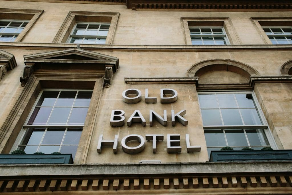 The Old Bank Hotel Sign