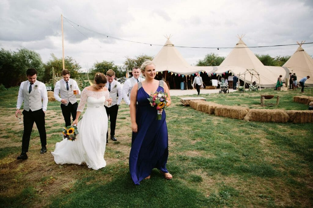 Tipi Wedding at The Maybush