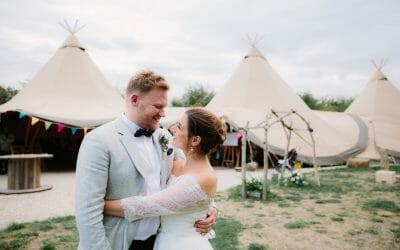 A TIPI WEDDING AT THE MAYBUSH IN WITNEY