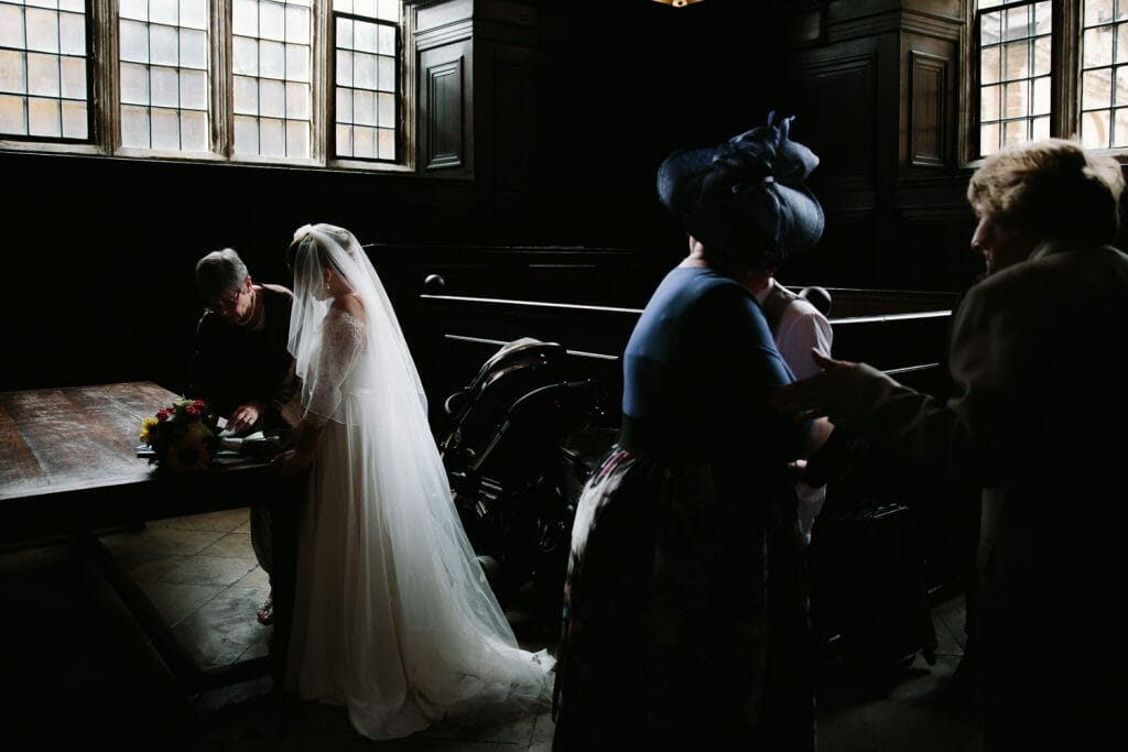 Wedding at the Bodleian in Oxford