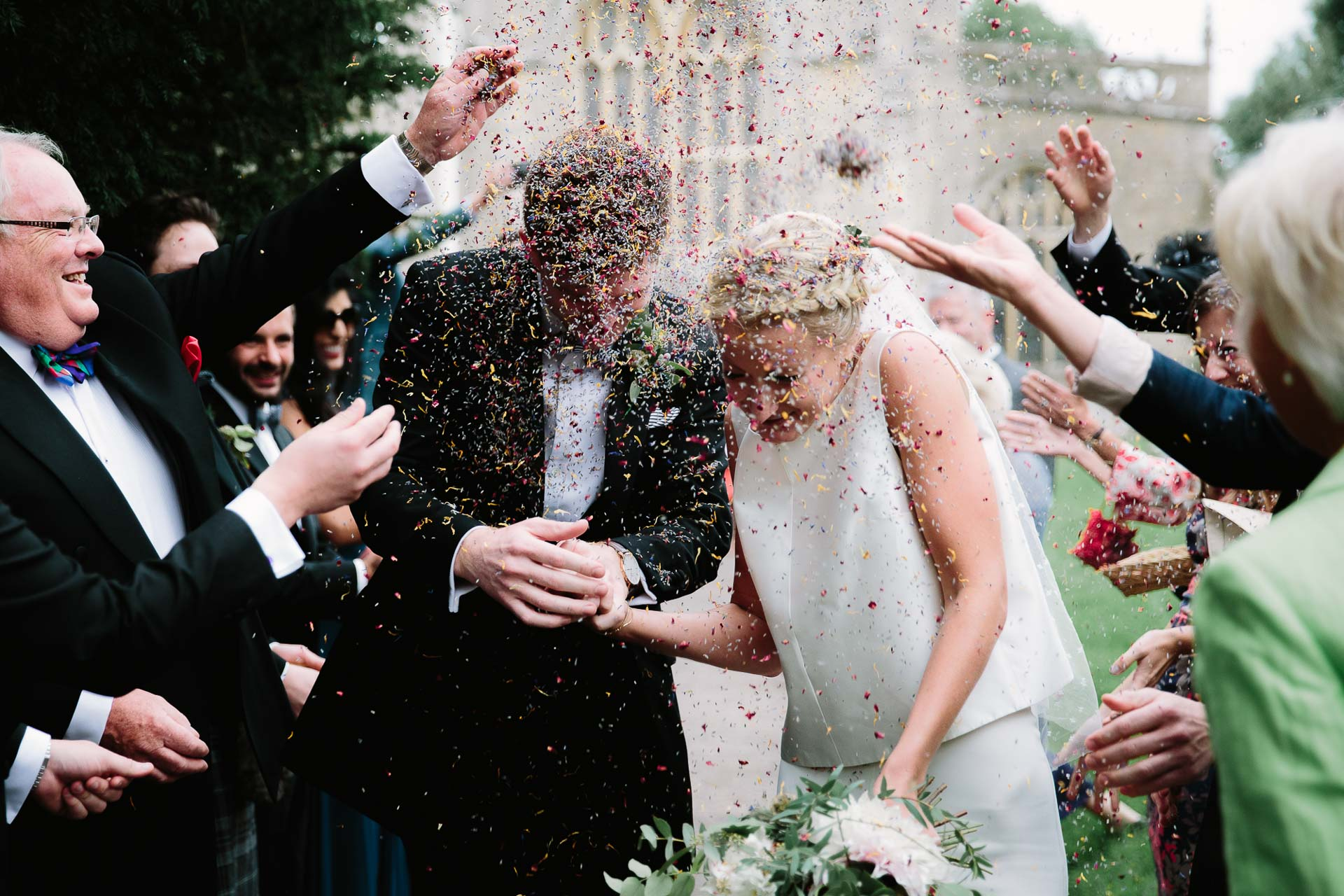 alternative confetti - by Oxford wedding photographer - Philippa James