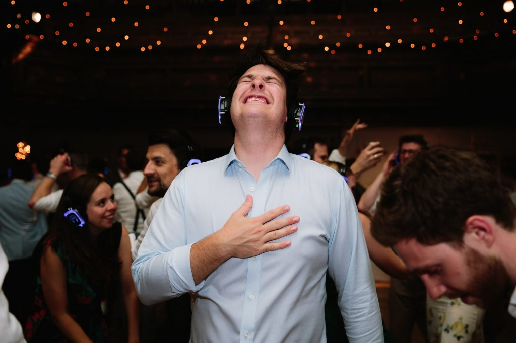 the silent disco - wedding ideas by Philippa James