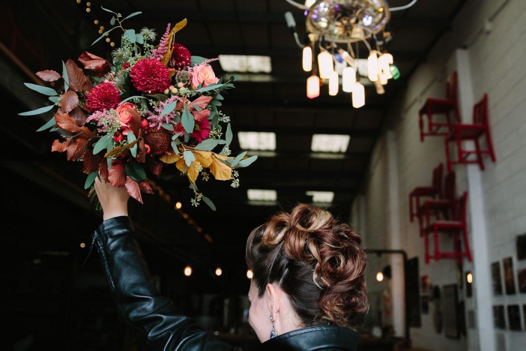 bride at tap social weddings