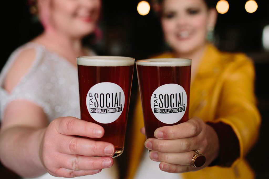 AN 'URBAN ROCK' WEDDING SHOOT AT TAP SOCIAL