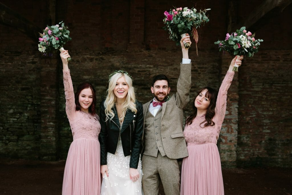 bridal party - wedding day timings by Philippa James Photography