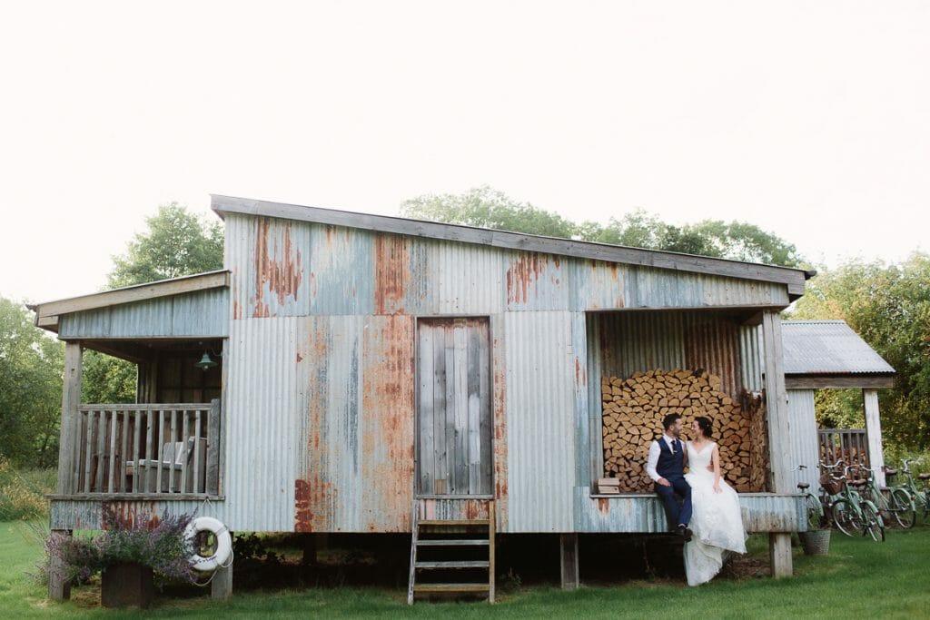 Bride + Groom at Oxfordshire Soho Farmhouse