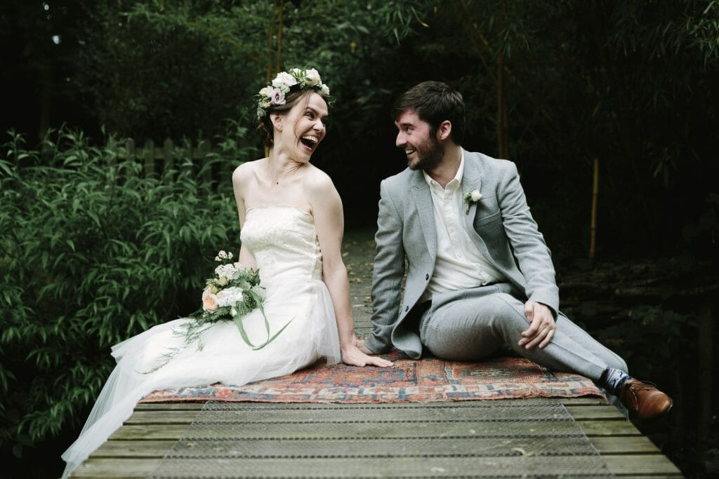 the most adorable couple during their outdoor Oxfordshire wedding