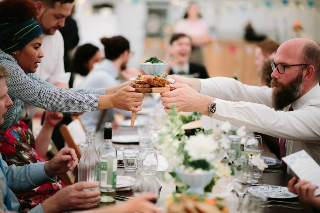 The Perch Oxford Wedding - sharing platters by The Oxford Wedding Blog