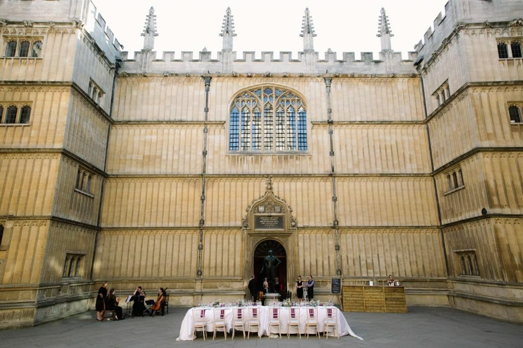 Oxford wedding venue - the bodleian Library