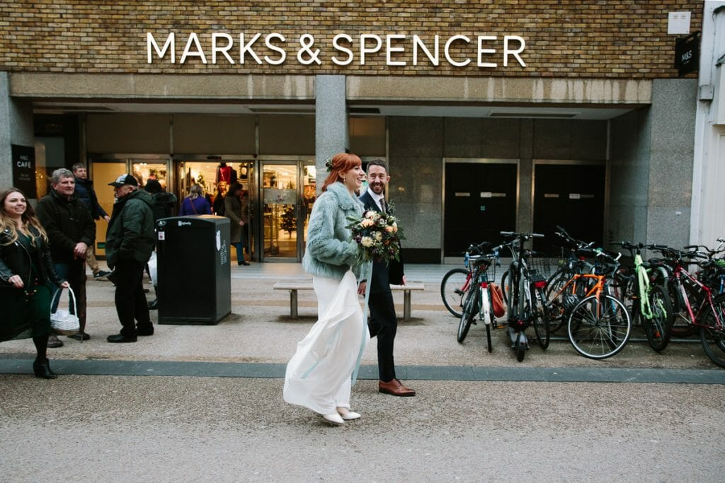 marks and Spencer - Oxford wedding