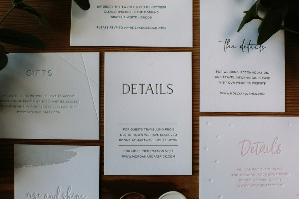 WEDDING INVITATIONS Oxford