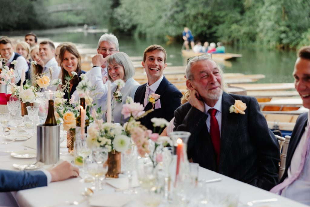 Cherwell Boathouse Wedding - outdoor dining in Oxford