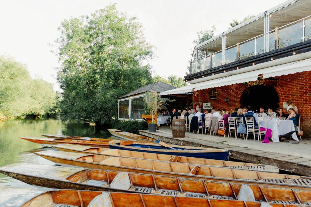 Cherwell Boathouse Wedding punting