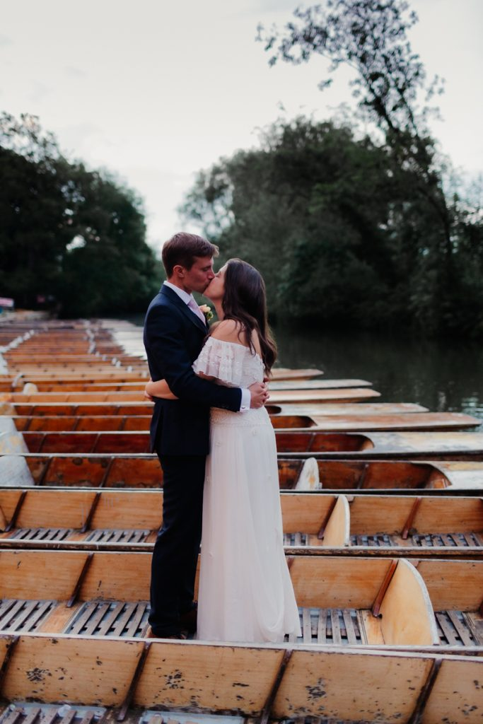 Cherwell Boathouse Wedding - punting in oxford